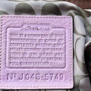 Coach Bags - Authentic Coach Pink Leather Handbag